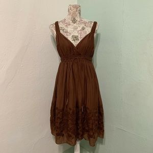 Banana Republic Terra Cotta Embroidered Dress 2